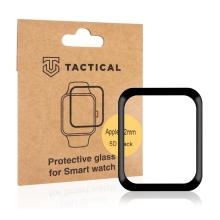 Tvrzené sklo TACTICAL 5D pro Apple Watch 42mm Series 1 / 2 / 3 - 3D okraj - černé / čiré