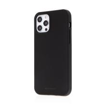 Kryt MERCURY Soft Feeling pro Apple iPhone 12 / 12 Pro - silikonový - černý