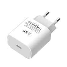 18W EU napájecí adaptér / nabíječka XO - rychlonabíjecí - USB-C pro Apple iPhone / iPad - bílý