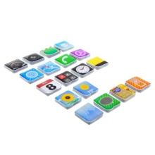 Set 18-ti magnetek / magnetky ve stylu Apple aplikací