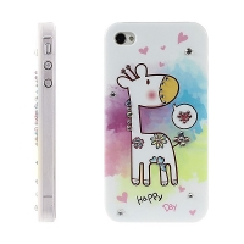 Kryt KINGXBAR pro Apple iPhone 4 / 4S - žirafa s lesklými kamínky