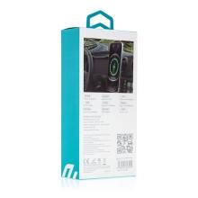 Držák do auta DEVIA + bezdrátová nabíječka MagSafe kompatibilní 15W - do ventilační mřížky - 360° - černý