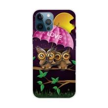 Kryt pro iPhone 12 Pro Max - gumový - zamilované sovičky
