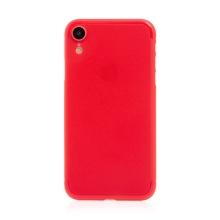 Kryt / obal pro Apple iPhone Xr - ochrana čočky - ultratenký - plastový - matný - červený