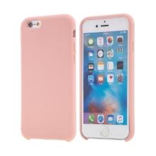Kryt pro Apple iPhone 6 / 6S - gumový - příjemný na dotek - růžový
