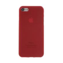 Kryt / obal pro Apple iPhone 7 / 8 / SE (2020) - ochrana čočky - ultratenký - plastový - matný - červený