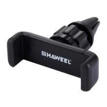 Držák do auta HAWEEL - na ventilační mřížku - mini - černý