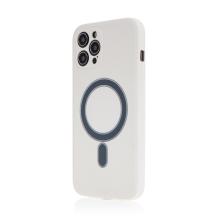 Kryt pro Apple iPhone 12 Pro Max - Magsafe - silikonový - bílý