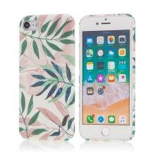 Kryt pro Apple iPhone 7 / 8 / SE (2020) - listy - plastový - bílý