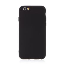 Kryt pro Apple iPhone 6 / 6S - příjemný na dotek - silikonový - černý