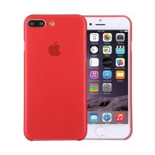 Kryt / obal pro Apple iPhone 7 Plus / 8 Plus ochrana čočky - plastový / tenký - červený