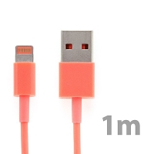 Synchronizační a nabíjecí kabel Lightning pro Apple iPhone / iPad / iPod - lososový - délka 1m