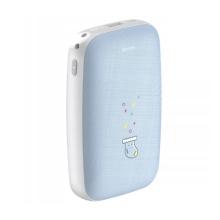 Externí baterie / power bank BASEUS - 2x USB + Micro USB + USB-C - 10000 mAh + ohřívač - modrá