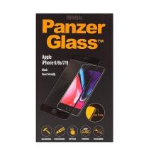 Tvrzené sklo (Tempered Glass) PANZERGLASS pro Apple iPhone 6 / 6S / 7 / 8 - na přední část část - 2,5D hrana - černé - 0,4mm