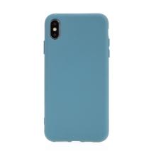 Kryt pro Apple iPhone Xs Max - příjemný na dotek - silikonový - šedivě modrý