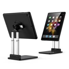 """Stojánek / držák + kryt pro Apple iPad 10,2"""" (2019 - 2021) - nastavitelný - plastový / kovový - černý"""