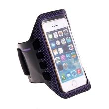 Sportovní pouzdro pro Apple iPhone 5 / 5C / 5S / SE - černo-fialové