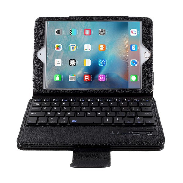 Elegantní pouzdro + odnímatelná klávesnice Bluetooth 2v1 pro Apple iPad mini / mini 2 / mini 3 / mini 4 - černé