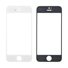 Náhradní přední sklo pro Apple iPhone 5 / 5C / 5S / SE - bílý rámeček - kvalita A