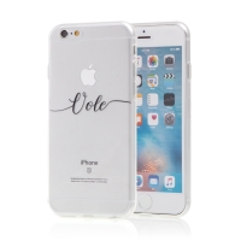 "Kryt pro Apple iPhone 6 / 6S - gumový - nápis ""Vole"""