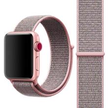 Řemínek pro Apple Watch 40mm Series 4 / 5 / 6 / SE / 38mm 1 / 2 / 3 - nylonový - růžový