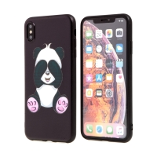 Kryt pro Apple iPhone Xs Max - gumový - panda