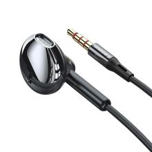 Sluchátka LENOVO s tlačítkem a mikrofonem pro Apple zařízení - černá