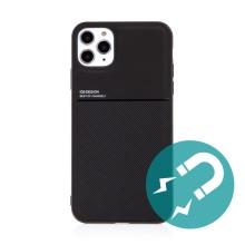 Kryt pro Apple iPhone 11 Pro Max - vestavěný plíšek pro držáky - plastový / gumový - černý