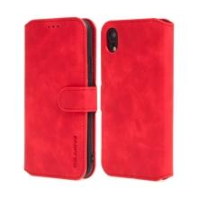 Pouzdro DG.MING pro Apple iPhone Xr - stojánek + prostor pro platební karty - červené