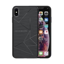Kryt NILLKIN pro Apple iPhone Xs Max - vestavěné magnety pro držák do auta / bezdrátovou nabíječku Qi NILLKIN - gumový - černý
