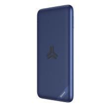 Externí baterie / power bank BASEUS - bezdrátové nabíjení Qi (10W) - 10000 mAh - USB-C + USB-A - 18W - modrá