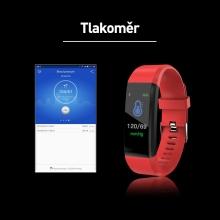 Sportovní fitness náramek - tlakoměr / krokoměr / měřič tepu - Bluetooth - vodotěsný