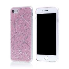 Kryt pro Apple iPhone 7 / 8 - plast / guma - trojúhelníky a růžové třpytky