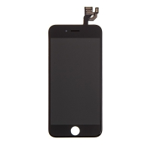 LCD panel + dotykové sklo (touch screen digitizér) pro Apple iPhone 6 - osazený - černý - kvalita A