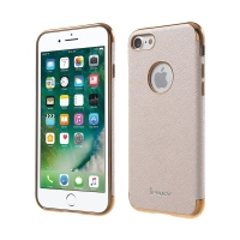 Kryt IPAKY pro Apple iPhone 7 / 8 - výřez pro logo / gumový - zlatý