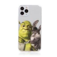 Kryt DREAMWORKS Shrek pro Apple iPhone 11 Pro - gumový - Shrek s oslíkem