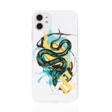 Kryt Harry Potter pro Apple iPhone 11 - gumový - had Zmijozelu