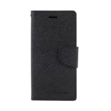 Pouzdro MERCURY Fancy Diary pro Apple iPhone X / Xs - umělá kůže - černé