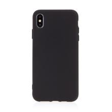 Kryt pro Apple iPhone Xs Max - příjemný na dotek - silikonový - černý