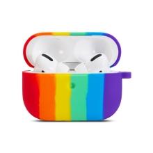 Pouzdro / obal pro Apple AirPods Pro - silikonové - duhové