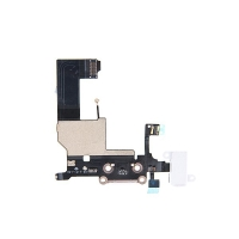 Napájecí a datový konektor s flex kabelem + audio konektor jack pro Apple iPhone 5 - bílý - kvalita A+