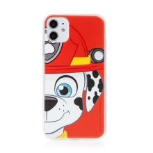 "Kryt ""Tlapková patrola"" pro Apple iPhone 11 - gumový - hasič Marshall"