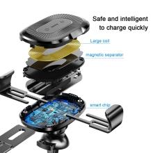 Bezdrátová nabíječka / nabíjecí držák do auta Qi BASEUS Gravity - černá