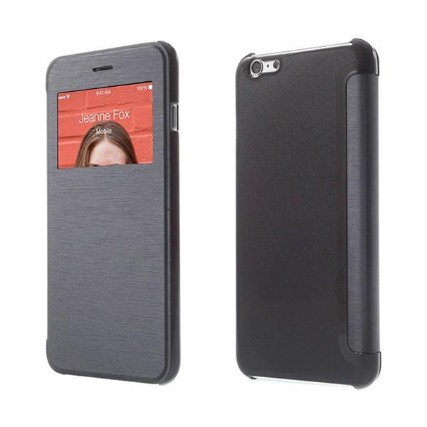 Flipové pouzdro pro Apple iPhone 6 Plus / 6S Plus s průhledným prvkem / výřezem pro displej - tmavě modré