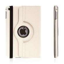 Pouzdro / kryt pro Apple iPad mini 4 - 360° otočný držák a prostor na doklady - bílé