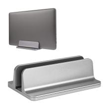 Stojánek pro Apple Macbook - pro zavřený notebook - nastavitelný - hliníkový - stříbrný