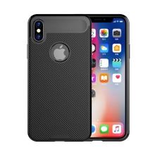 Kryt pro Apple iPhone X - karbonový vzor - gumový - černý