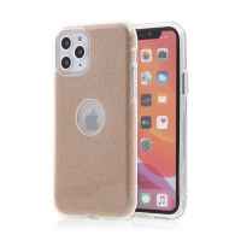 Kryt FORCELL Shining pro Apple iPhone 11 Pro Max - výřez pro logo - plastový / gumový - zlatý
