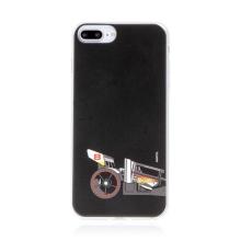 Kryt HOT WHEELS - pro Apple iPhone 7 Plus / 8 Plus - gumový - formule - černý