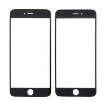 Náhradní přední sklo pro Apple iPhone 6 Plus - černý rámeček - kvalita A